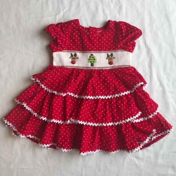 mud pie baby girl christmas dress